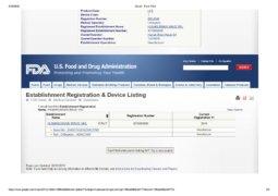 FDA registration regenera 2
