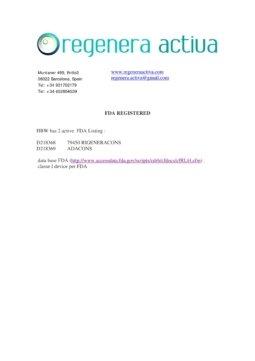 FDA registration-Rigenera