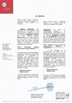 Free Sales Certificate Regenera